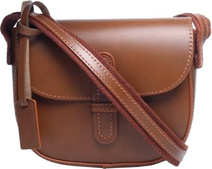 bb1c187643ec Ivory Tag Women Casual Tan Genuine Leather Sling Bag Tan - Price in India