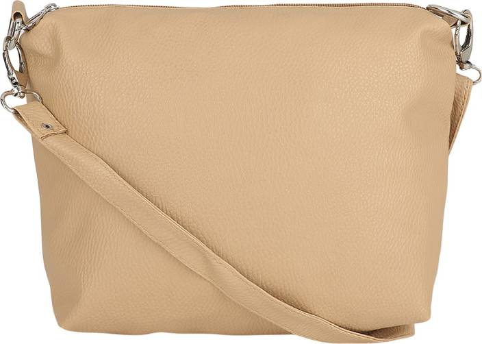 Borse Women Casual Beige PU Sling Bag Beige - Price in India ...