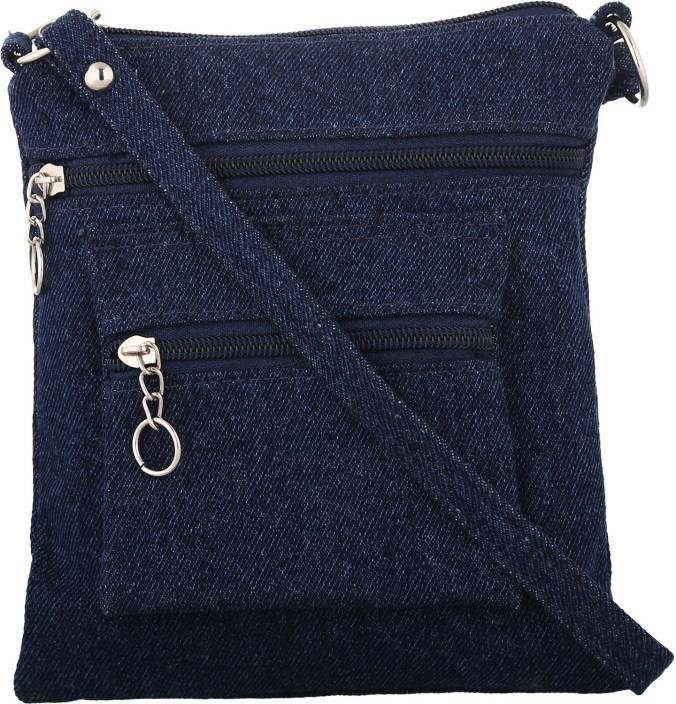 Exotique Women Blue Denim Sling Bag