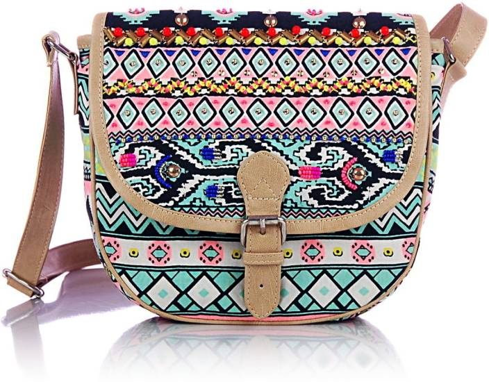 Shaun Design Women Multicolor Cotton Sling Bag | Buy Shaun Design ...