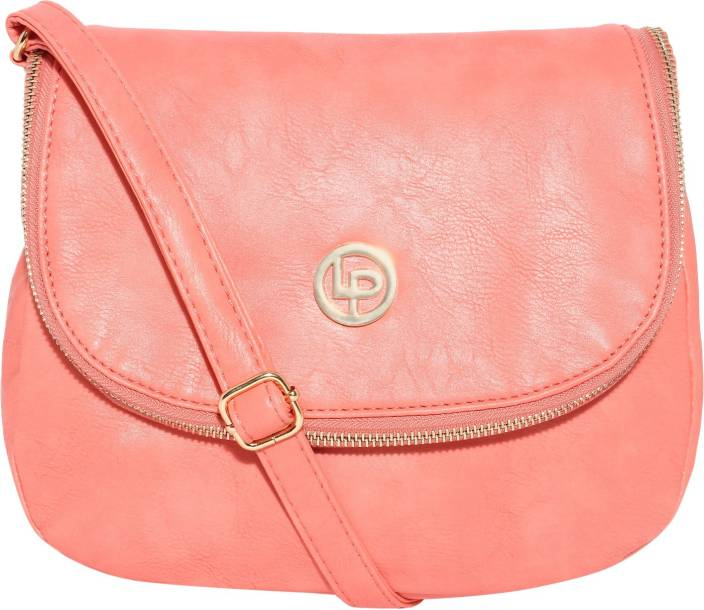Lino Perros Women Pink Leatherette Sling Bag Pink - Price in India ...