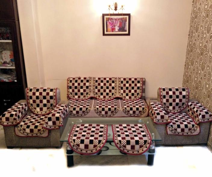 SHC Polyester Sofa Cover Price in India Buy SHC Polyester Sofa
