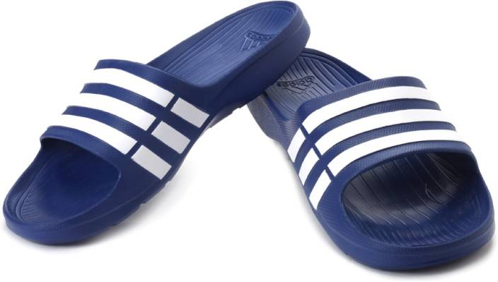 0f347b40ee53 ADIDAS Duramo Slide Slippers - Buy Blue Color ADIDAS Duramo Slide Slippers  Online at Best Price - Shop Online for Footwears in India