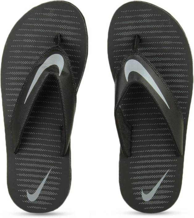 Nike CHROMA THONG 5 Slippers - Buy BLACK   CHROME - COOL GREY Color ... e72f7562b
