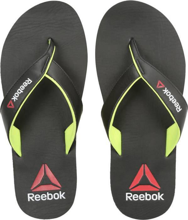 f8024bb687fe79 REEBOK ADVENT Slippers - Buy BLACK NEON YELLOW Color REEBOK ADVENT Slippers  Online at Best Price - Shop Online for Footwears in India
