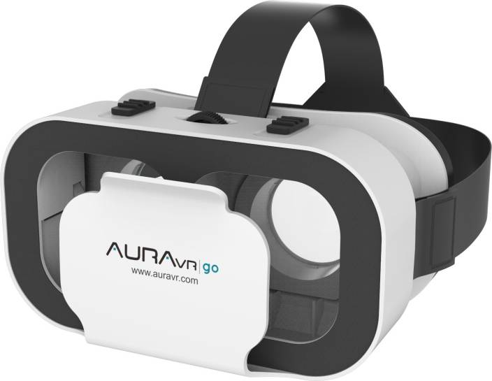 AuraVR Go Virtual Reality VR Headset with inbuilt clicker button and bigger adjustable lenses