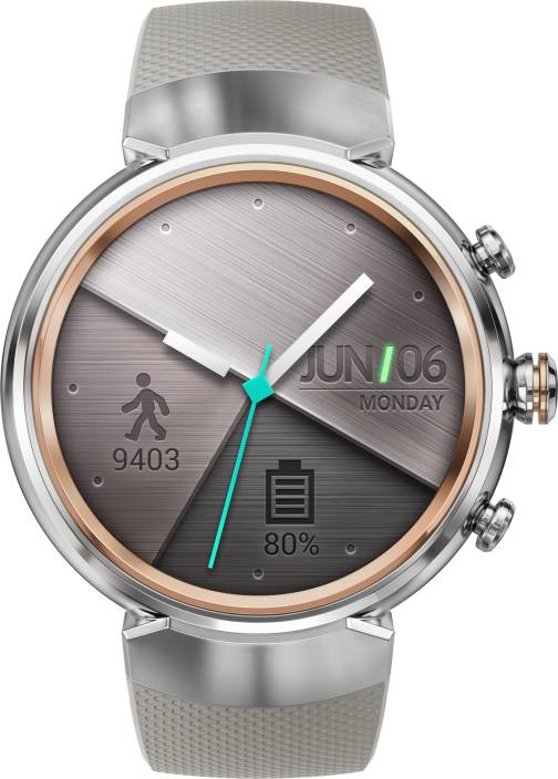 Asus Zenwatch3 Silver with Beige Rubber Strap