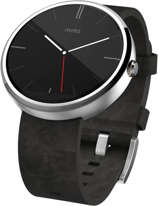 Motorola Moto 360 Grey Leather Smartwatch