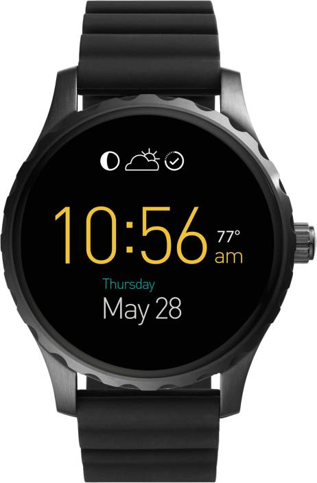 fossil marshall black smartwatch price in india buy fossil