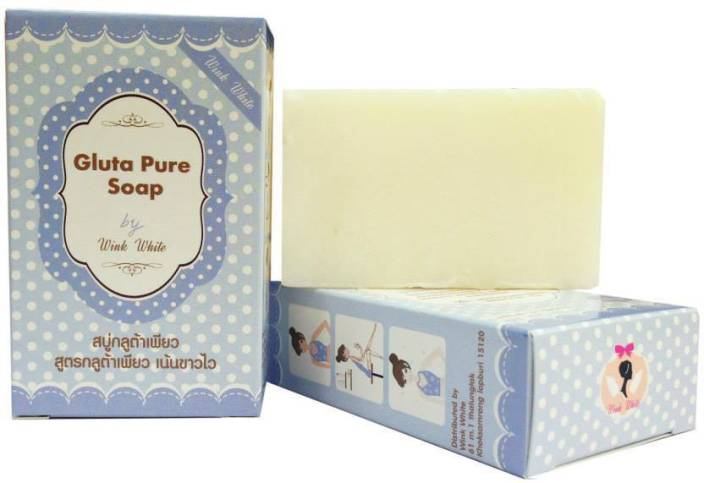 wink white soap Wink White Natural Gluta Pure Soap Whitening Anti Aging Face Skin Body Bleaching (70 g)