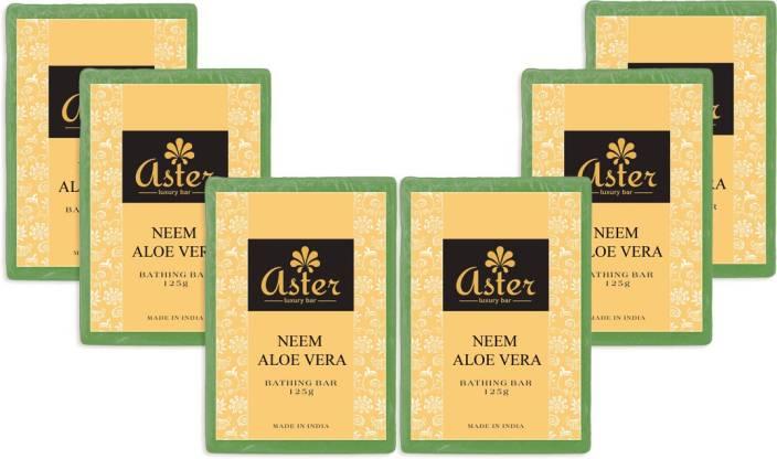 Aster Luxury Neem Aloe vera Bathing Bar - Pack of 6