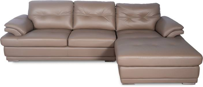 Godrej Interio Aspire L Shape Leatherette 3 Seater Sofa Price In