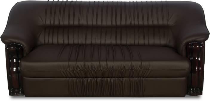 Rej Interio Dlion Leather 3 Seater Sofa