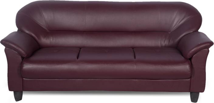Godrej Interio Jem Leather 3 Seater Sofa Price In India Buy Godrej