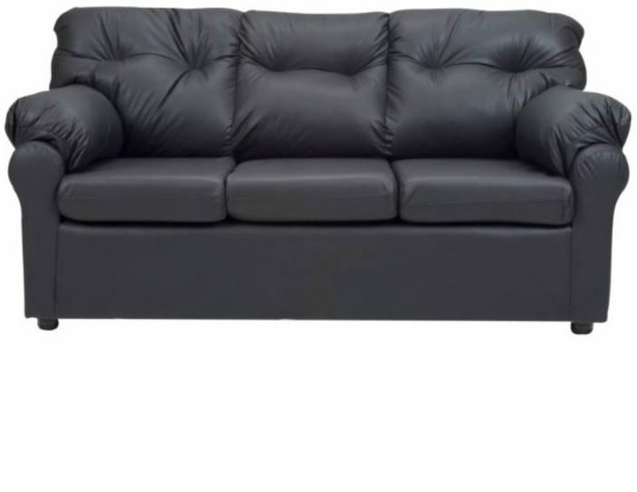 Furny Elzada Comfy Leatherette 3 Seater Sofa Price In India Buy
