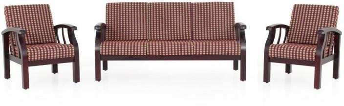 JFA PARKLANE Fabric 3 + 1 + 1 Rosewood Sofa Set
