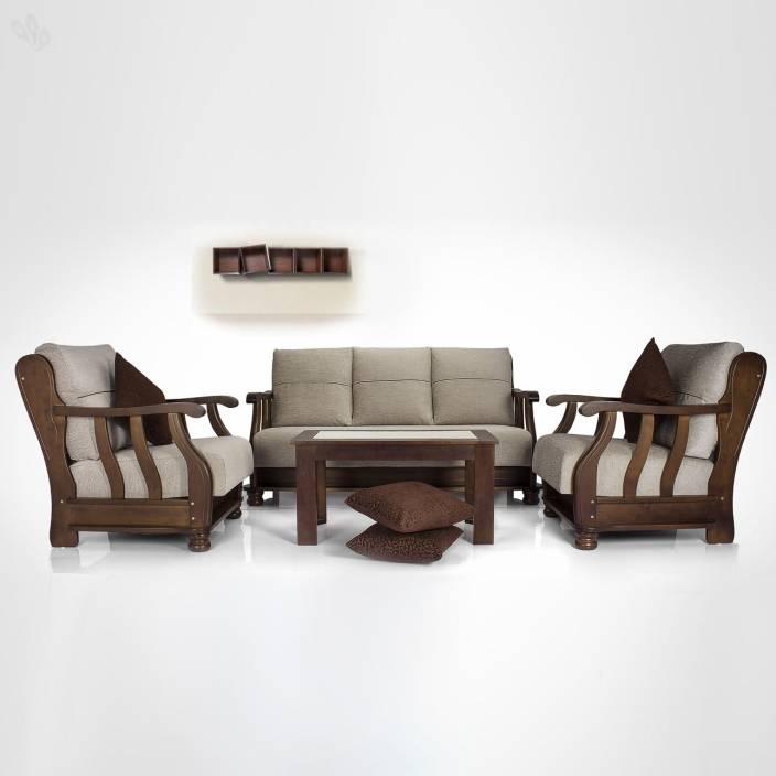 Settee Sofa Furniture Prices In India: Vive Prestige Fabric 3 + 1 + 1 Sofa Set Price In India