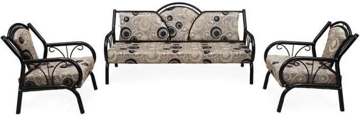 Nill Lemond Fabric 3 1 Grey Sofa Set