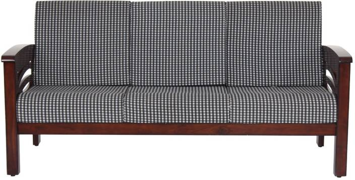 JFA Faramond Fabric Sectional Darkwalnut Sofa Set