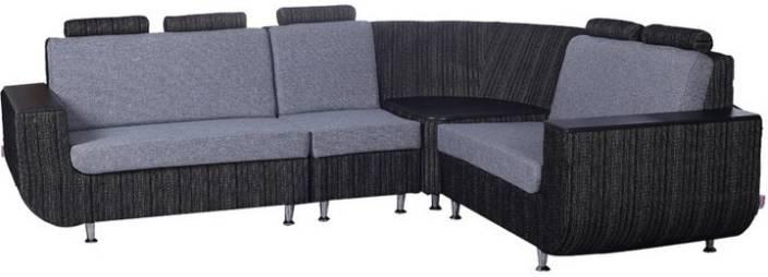 Kurlon Nova Fabric 3 2 1 Black White Sofa Set Price In India