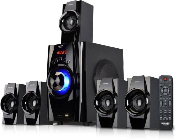 b7d1cacd12892 Truvison SE-5045 Multimedia System USB FM MMC Playback Support Feature  Superior Sound Clarity Home Audio Speaker (Black