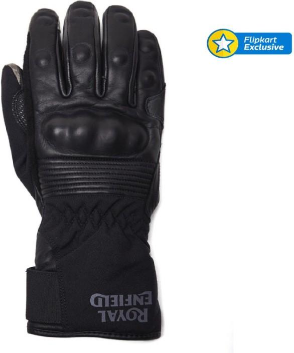 Royal Enfield Summer Riding Gloves Black
