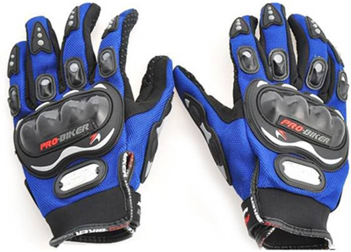 Probiker Full Figer Riding Gloves (XL, Blue)