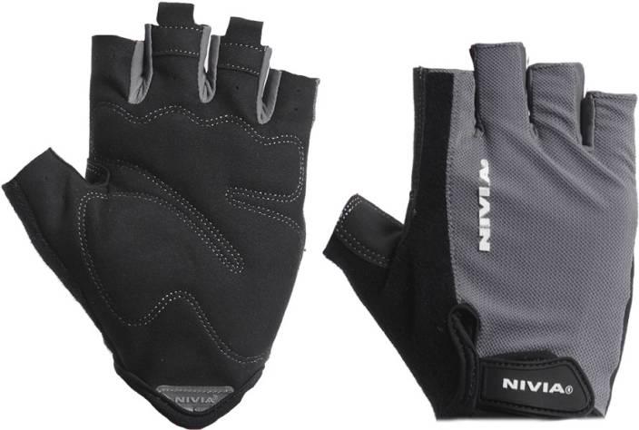 Nivia Python Gym & Fitness Gloves (M, Black, Grey)