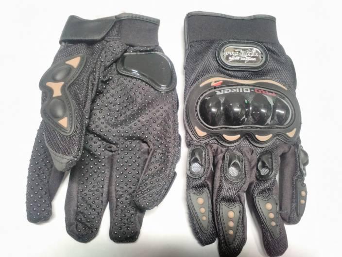 Probiker Full Finger Riding Gloves (L, Black)