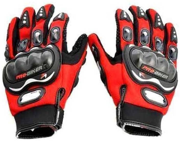 Probiker Bike Racing Riding Gloves (L, Red)