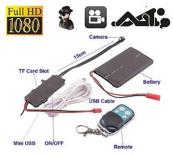 Eye Vision Full Hd 1080p Mini Spy Hidden Camera Audio Video Recording With Dvr Remote