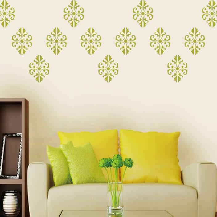 Arhat Stencils DAMASK ASR-E89 GLOSSY DAMASK PVC (Wall Décor & Art ...