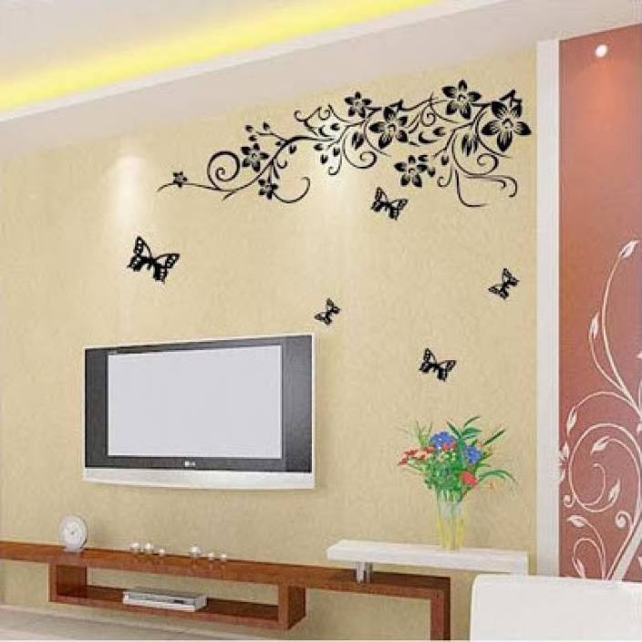 Living Room Wall Stickers India WoW PVC Removable Sticker D