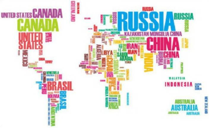 grabden large colourful world map wall sticker price in india - buy