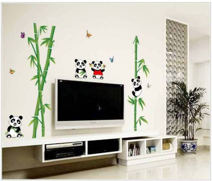 Oren Empower Panda And Bamboo Home Decorative Wall Sticker 118 Cm X 115 Green