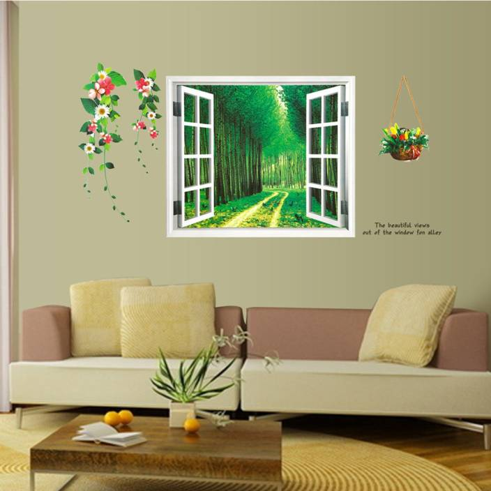 cortina extra large 3d wall sticker sticker price in india - buy