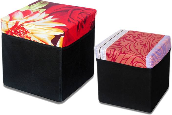 Christy's Collection Big And Small Storage (Set Of 2) Design 7 Outdoor & Cafeteria Stool