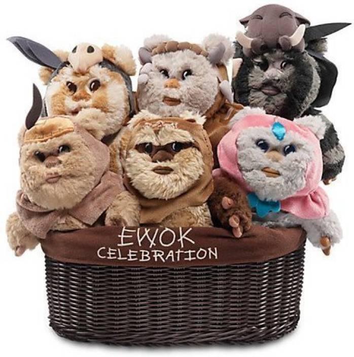 Disney Star Wars Ewok Celebration Limited Edition Plush Set 9 Inch