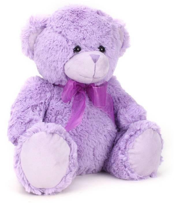 Starwalk Bear Plush Purple Colour with Ribbon 33 cm  - 33 cm