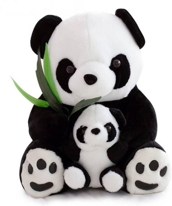 ToynJoy 2 Feet Cute Sitting Panda Mother Son Stuffed Bear For Valentines Birthday Gift
