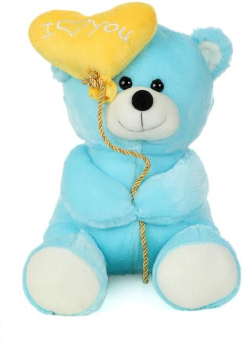 Giftwish Soft Stuff Cute Teddy Bear With I Love You Heart Ballon