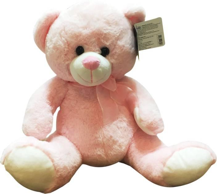 Starwalk Bear Plush Pink Colour with Ribbon  - 25 cm