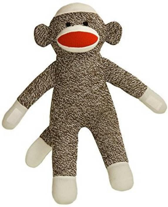 Aurora World 12 Inch Brown Sock Monkey With Velcro Hands 20 Inch