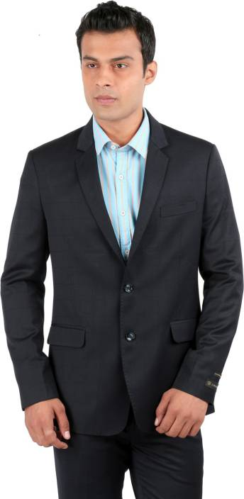 da80fc63c J Hampstead Checkered Men's Suit - Buy Navy J Hampstead Checkered ...