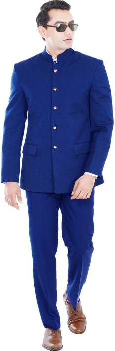 Hangrr Premium Single Breasted Jodhpuri Suit Solid Men's Suit