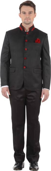 Azio Design Bandgala Solid Men's Suit