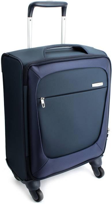 Samsonite blite cabin luggage 17 inch blue price in for Samsonite cabin luggage