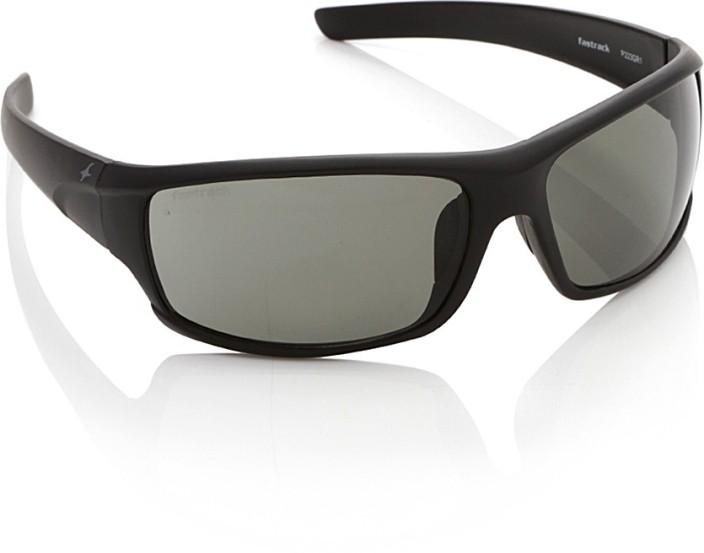 stylish glasses for men  Buy Fastrack P223GR1 Wrap-around Sunglasses Green For Men Online ...