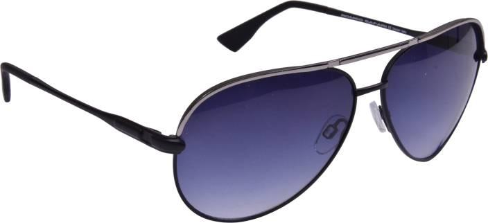 4e4d0a8fc3287 Buy Romeo Safari Aviator Sunglasses Black For Men Online   Best ...