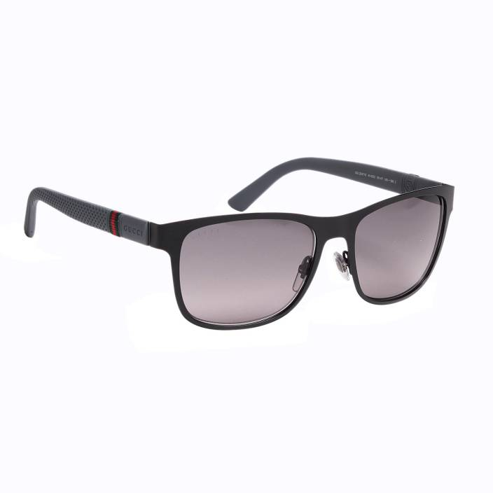 f8e145978e08 Buy GUCCI Wayfarer Sunglasses Grey For Men Online @ Best Prices in ...